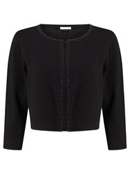 Jacques Vert Beaded Front Cardigan Black