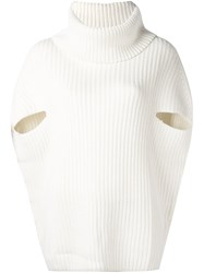 P.A.R.O.S.H. Cowl Neck Jumper White