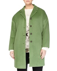 Marina Rinaldi Nova Long Wool Coat Women's Green