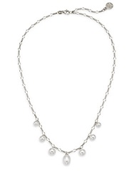 Majorica 6Mm 9Mm White Round Pearl And Sterling Silver Chain Necklace Silver White
