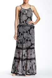 Hale Bob Tiered Maxi Skirt Black