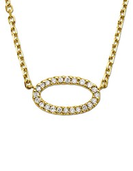 Lord And Taylor 14Kt. Yellow Gold Diamond Oval Pendant Necklace