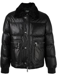 Dsquared2 Quilted Feather Down Jacket Black