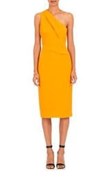 Narciso Rodriguez Women's One Shoulder Heavyweight Crepe Dress Yellow