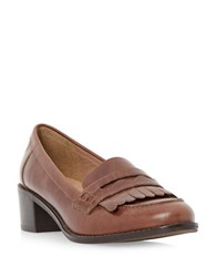 Dune Gwyneth Leather Penny Loafers Tan