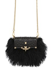 Trussardi Leather And Mongolian Fur Bag For Lvr