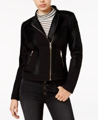 Guess Pamela Pebbled Faux Leather Moto Jacket Pamela Pebbled Jacket