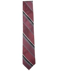 Ryan Seacrest Distinction Men's Huntington Stripe Slim Tie Only At Macy's Red