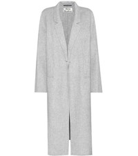 Acne Studios Foin Double Wool And Cashmere Coat Grey