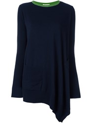 Hache Asymmetric Jumper Blue