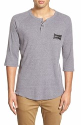 Men's Brixton 'Ramsey' Three Quarter Sleeve Waffle Knit Henley
