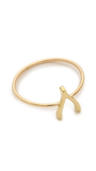 Jennifer Meyer Jewelry Mini Wishbone Ring Gold