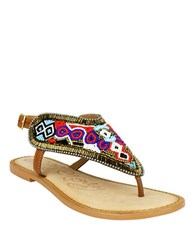 Naughty Monkey Moroccan Mania Leather Sandals Multi Colored