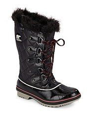 Sorel Waterproof Leather Quilted Boots Black