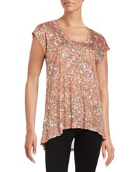 Michael Michael Kors Plus Cap Sleeved Floral Tunic Pink