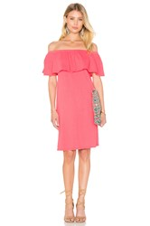 Velvet By Graham And Spencer Ithaca Cotton Slub Off The Shoulder Dress Pink