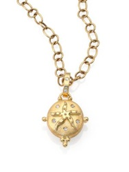Temple St. Clair Tree Of Life Diamond And 18K Yellow Gold Small Sea Star Locket