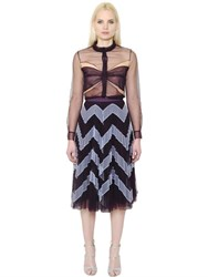 Mary Katrantzou Butterfly Sheer Tulle Shirt