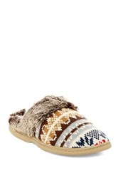 Gold Toe Faux Fur Knit Slipper Multi