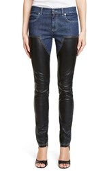 Women's Givenchy Bonded Leather Trim Jeans