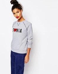 Sonia By Sonia Rykiel Sweatshirt With Rainbow Heart Gray