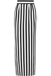 Dolce And Gabbana Striped Crepe Maxi Skirt
