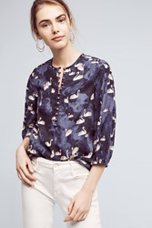 Maeve Bethesda Flannel Blouse Blue