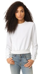 Cotton Citizen The Milan Cropped Sweatshirt Bone