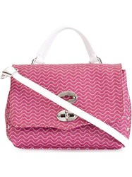 Zanellato Baby 'Postina' Satchel Pink And Purple