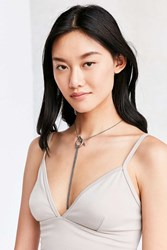 Urban Outfitters Elle Toggle Statement Necklace Silver