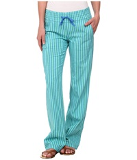 Hurley Venice Beach Pant W Drawcord Green Glow Stripe Women's Casual Pants Blue