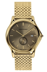 Emporio Armani Swiss Made Round Bracelet Watch 40Mm Gold Bronze