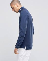 Ellesse Long Sleeve T Shirt With Turtle Neck Navy