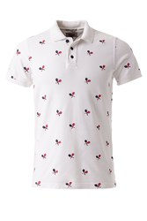 Tommy Hilfiger Allover Embroidery Polo White