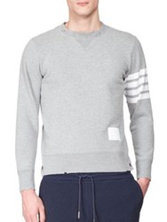 Thom Browne Long Sleeve Crewneck Sweatshirt Light Grey