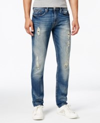 Guess Men's Slim Fit Tapered Jeans Hiker Blue