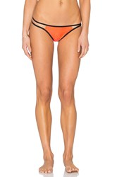 Pilyq Strappy Troy Teeny Bikini Bottom Orange