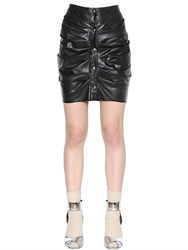 Etoile Isabel Marant Draped Faux Leather Mini Skirt