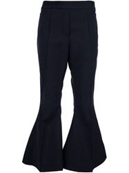 Ellery Cropped Flared Trousers Black