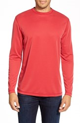 Men's Bugatchi Long Sleeve Knit T Shirt Ruby