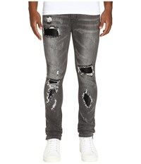 God's Masterful Children Amadeo Ripped Leather Jeans Grey