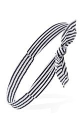 Forever 21 Knotted Stripe Headwrap Navy Cream