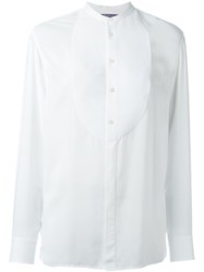 Ralph Lauren Black Label Ralph Lauren Black Collarless Shirt White