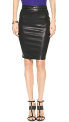 Blank Vegan Leather Pencil Skirt Pussy Cat