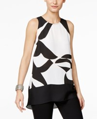 Inc International Concepts Petite Printed High Low Tunic Only At Macy's Harmonious Wave