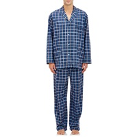 Barneys New York Plaid Pajama Set Blue