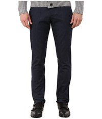 Ted Baker Lommy Classic Fit Brushed Cotton Trousers Blue Men's Casual Pants