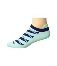 Feetures High Performance Ultra Light No Show Tab 3 Pair Pack Mint Pattern No Show Socks Shoes Green