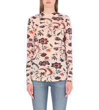 Sandro Blossom Floral Print Cotton T Shirt Chair