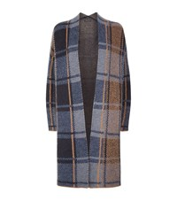 Set Long Plaid Cardigan Female